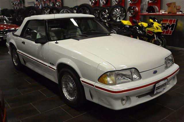 1987 FORD MUSTANG GT 2DR CONVERTIBLE white low miles for a 1987 auto climate control leather