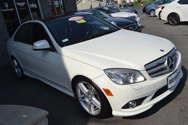 2009 MERCEDES-BENZ C-CLASS C350 SPORT 4DR SEDAN arctic white low miles this 2009 mercedes-benz