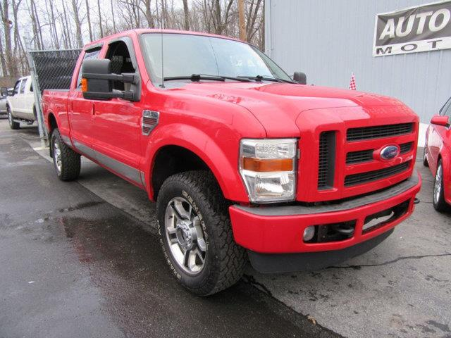 2008 FORD F-350 SUPER DUTY XLT CREW CAB 4WD red this 2008 ford super duty f-350 srw xlt crew cab