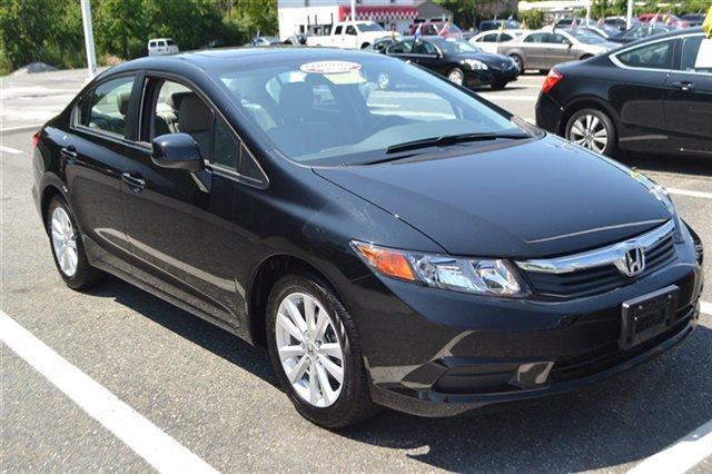 2012 HONDA CIVIC 4DR AUTOMATIC EX-L crystal black pearl low miles this 2012 honda civic sdn 4d