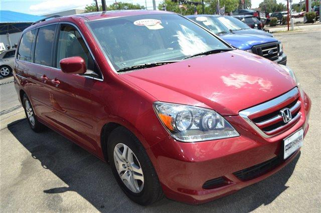 2006 HONDA ODYSSEY 5DR EX-L AUTOMATIC WITH RES VAN red rock pearl new arrival backup camera