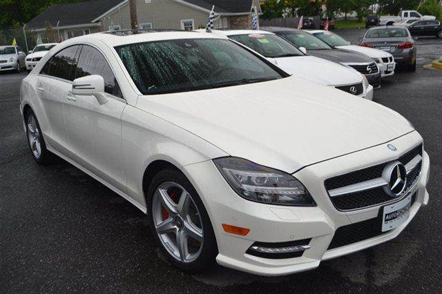 2013 MERCEDES-BENZ CLS-CLASS CLS550 4MATIC AWD 4DR SEDAN diamond white metallic new arrival he