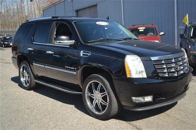2007 CADILLAC ESCALADE BASE AWD 4DR SUV black raven carfax 1-owner low miles this 2007 cadill