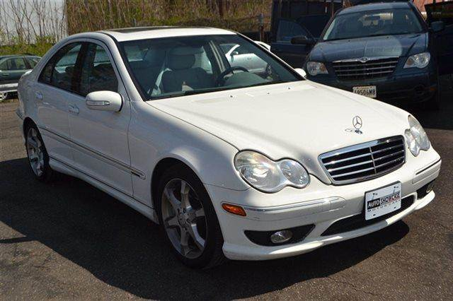 2007 MERCEDES-BENZ C-CLASS C230 SPORT 4DR SEDAN white warranty included a factory warranty is in