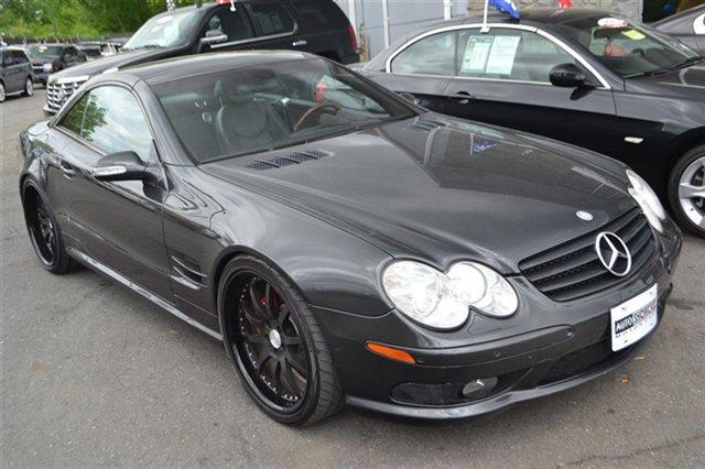2003 MERCEDES-BENZ SL-CLASS SL500 2DR CONVERTIBLE graphite value priced below market navigatio