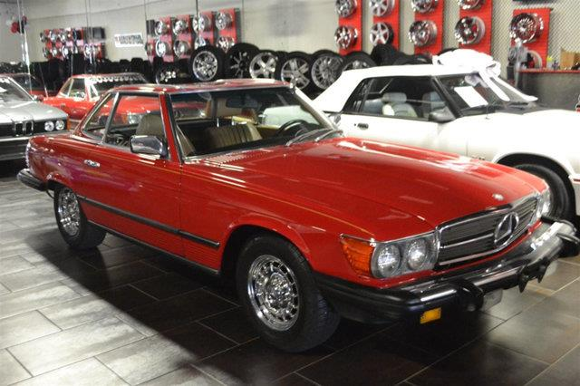 1985 MERCEDES-BENZ 380-CLASS 380SL 2DR CONVERTIBLE red this 1985 mercedes-benz 380 sl features a