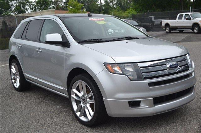 2010 FORD EDGE SPORT AWD 4DR SUV white platinum metallic tri-co new arrival this 2010 ford edge