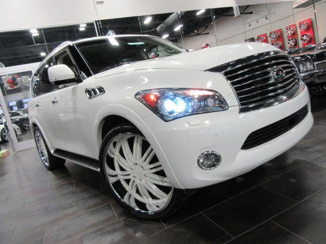 2012 INFINITI QX56 BASE 4X4 4DR SUV white this 2012 infiniti qx56 4dr 4wd 4dr 8-passenger feature