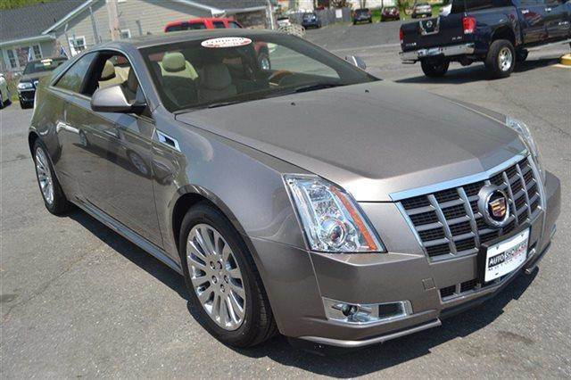 2012 CADILLAC CTS 36L PREMIUM 2DR COUPE mocha steel metallic carfax 1-owner low miles this 2