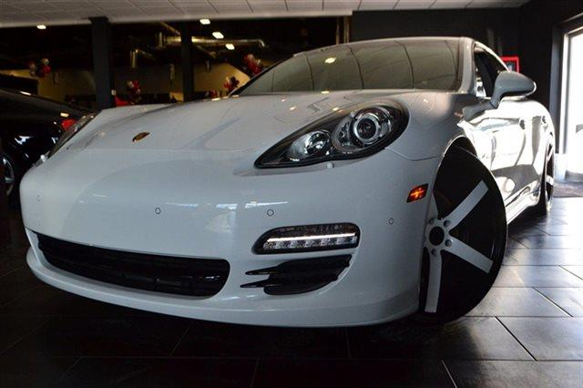 2013 PORSCHE PANAMERA 4 SEDAN carrara white bluetooth park distance control navigation hea
