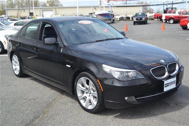 2008 BMW 5 SERIES 535I 4DR SEDAN LUXURY black sapphire metallic navigation sunroofmoonroof
