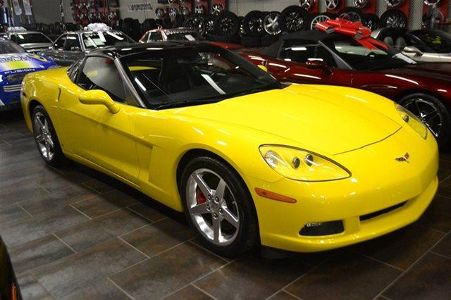 2006 CHEVROLET CORVETTE BASE 2DR COUPE velocity yellow tintcoat carfax one owner this 2006 che