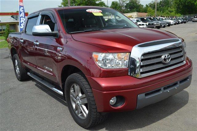 2007 TOYOTA TUNDRA LIMITED 4DR CREWMAX CAB 4X4 SB  radiant red heated seats premium sound pac