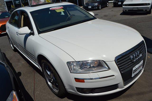 2007 AUDI A8 L QUATTRO AWD 4DR SEDAN white warranty a limited warranty is included with this vehi