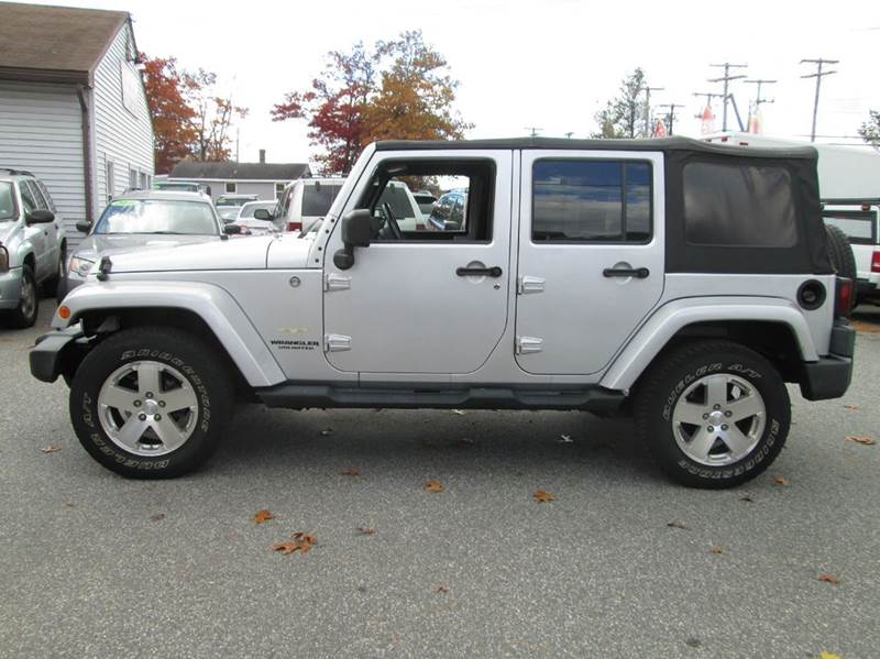 2009 jeep wrangler unlimited 4x4 sahara 4dr suv w front side airbags in lowell ma best auto. Black Bedroom Furniture Sets. Home Design Ideas