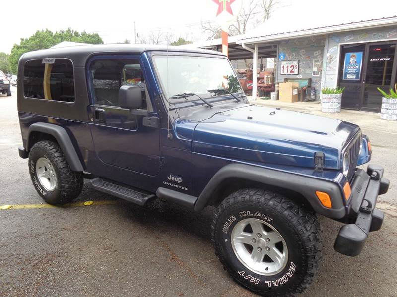 2004 jeep wrangler unlimited 4wd 2dr suv in new braunfels for Trophy motors new braunfels