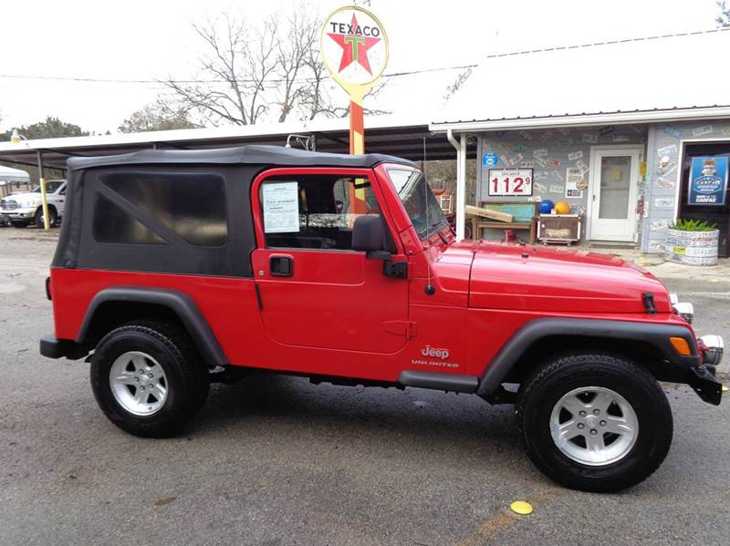 2005 jeep wrangler unlimited 4wd 2dr suv in new braunfels for Trophy motors new braunfels