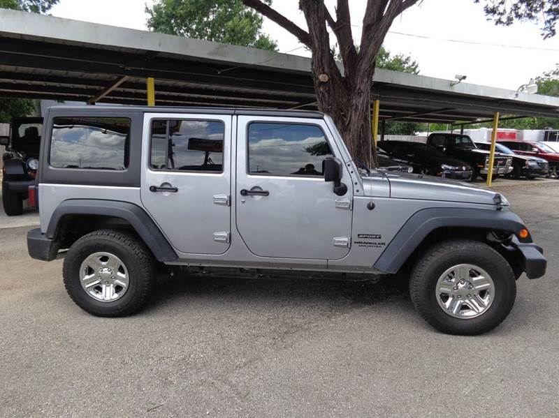 2015 jeep wrangler unlimited 4x4 sport rhd 4dr suv in new for Trophy motors new braunfels