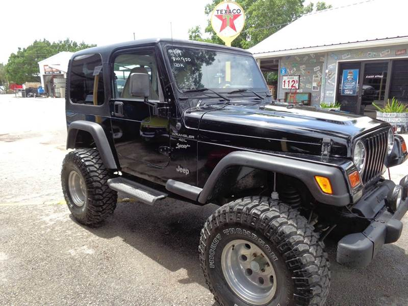 1999 jeep wrangler 2dr sport 4wd suv in new braunfels tx for Trophy motors new braunfels