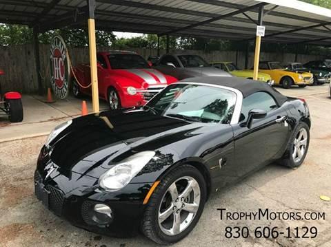 Pontiac solstice for sale for Trophy motors new braunfels texas