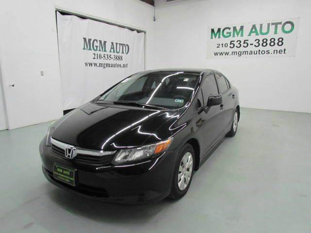 2012 Honda Civic LX 4dr Sedan 5A - San Antonio TX