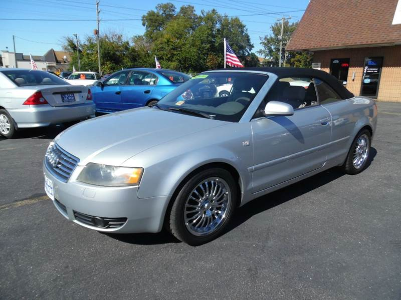 2004 audi a4 1 8t 2dr turbo cabriolet in virginia beach va beach auto sales. Black Bedroom Furniture Sets. Home Design Ideas