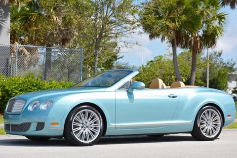 2011 Bentley Continental GTC Speed for sale in West Palm Beach, FL
