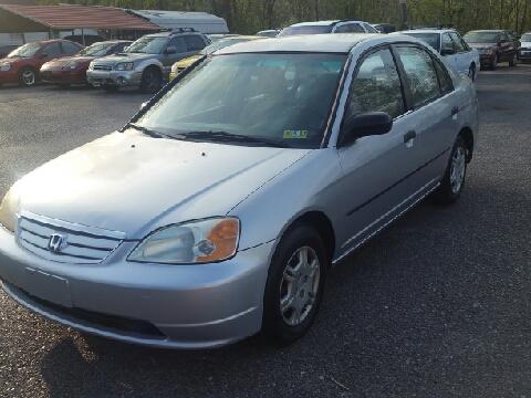 2002 Honda Civic for sale in Ona, WV