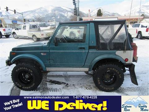 Suzuki samurai for sale in montana for Quality motors salmon id