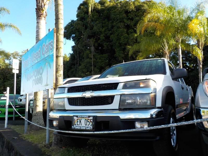 2008 Chevrolet Colorado 4x4 LT Crew Cab 4dr - Hilo HI
