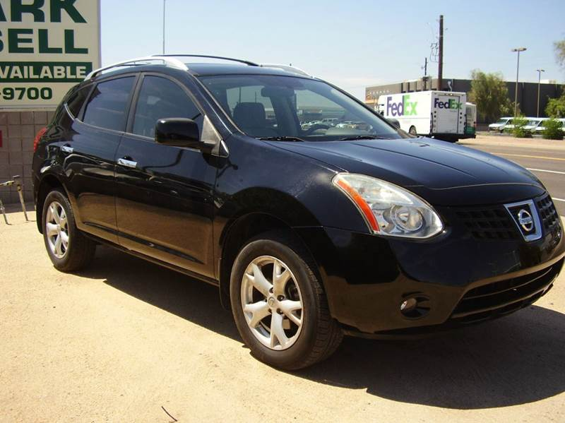 2010 NISSAN ROGUE SL 4DR CROSSOVER black 2-stage unlocking abs - 4-wheel active head restraints