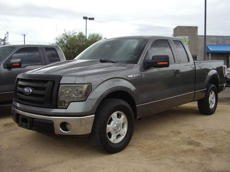 2010 FORD F-150 XLT 4X2 4DR SUPERCAB STYLESIDE 6 gray 2-stage unlocking - remote abs - 4-wheel