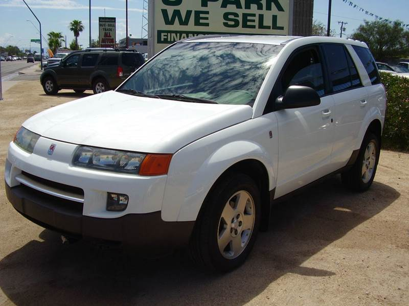 2004 SATURN VUE BASE FWD 4DR SUV V6 white abs - 4-wheel anti-theft system - alarm center consol