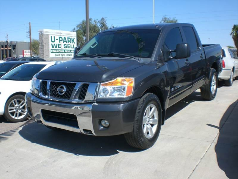 2012 NISSAN TITAN SV 4X2 4DR CREW CAB SWB PICKUP 2-stage unlocking doors abs - 4-wheel active he