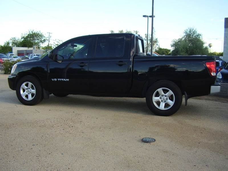 2008 NISSAN TITAN XE 4X2 4DR CREW CAB SHORT BED black 2-stage unlocking abs - 4-wheel airbag de