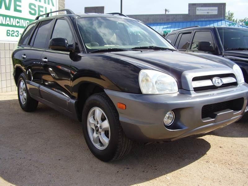 2005 HYUNDAI SANTA FE GLS 4DR SUV black abs - 4-wheel anti-theft system - alarm cassette cente