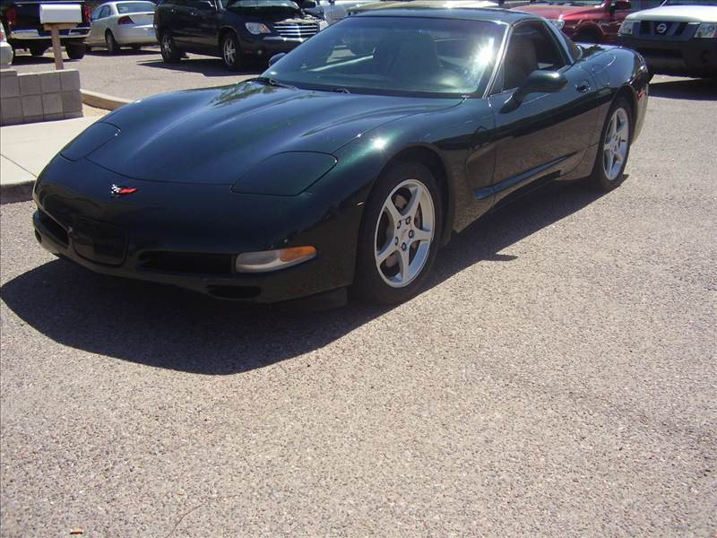 2000 CHEVROLET CORVETTE BASE 2DR STD COUPE green abs - 4-wheel anti-theft system - alarm casset