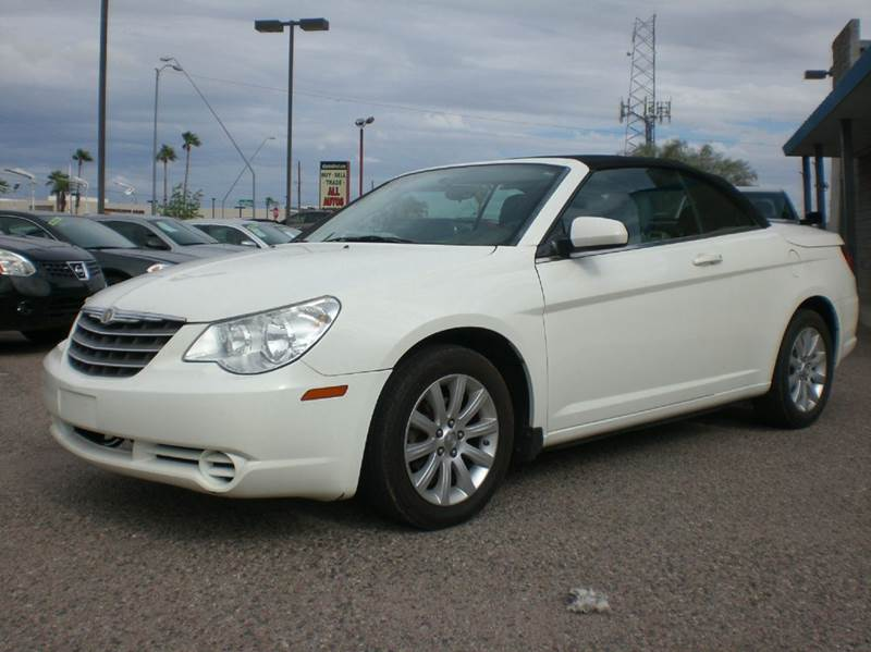 2010 CHRYSLER SEBRING TOURING 2DR CONVERTIBLE white 2-stage unlocking - remote abs - 4-wheel ai