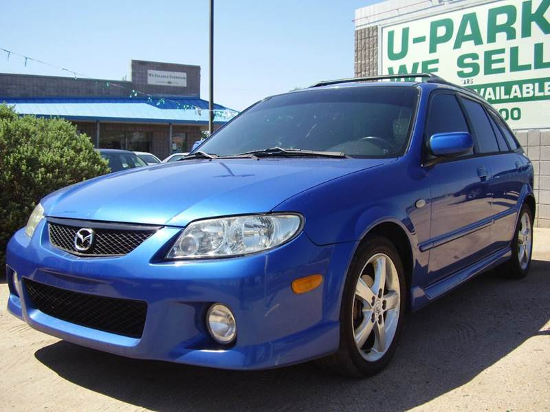2003 MAZDA PROTEGE5 BASE 4DR WAGON blue alloy wheels center console clock cruise control exte