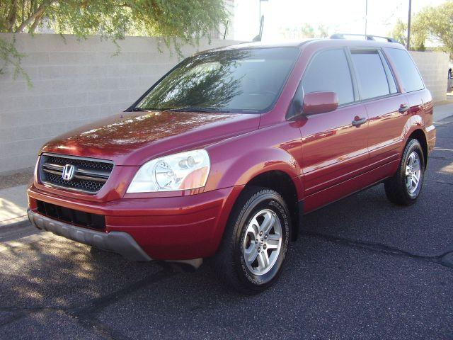 2005 HONDA PILOT EX-L 4WD 4DR SUV WLEATHER AND E maroon dvd system head phones tan leather seats