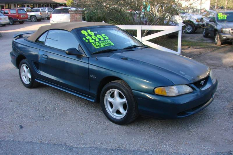 1996 ford mustang gt 2dr convertible in lacombe la deals on wheels llc. Black Bedroom Furniture Sets. Home Design Ideas