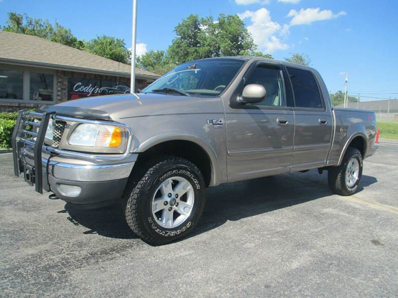 2003 ford f 150 lariat 4dr supercrew 4wd styleside sb in joplin mo d j auto sales. Black Bedroom Furniture Sets. Home Design Ideas