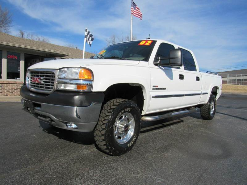2002 gmc sierra 2500hd 4dr crew cab slt 4wd sb in joplin mo d j auto sales. Black Bedroom Furniture Sets. Home Design Ideas