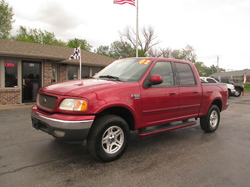 2002 ford f 150 4dr supercrew lariat 4wd styleside sb in joplin mo d j auto sales. Black Bedroom Furniture Sets. Home Design Ideas