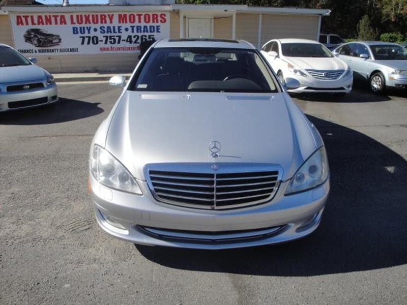 Used 2007 mercedes benz s class for sale in georgia for Atlanta luxury motors inc