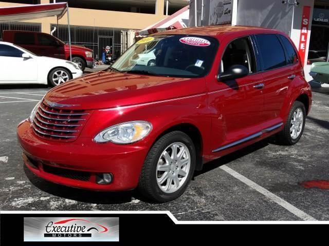 2010 CHRYSLER PT CRUISER BASE 4DR WAGON inferno red crystal pearl front wheel drivepower steering