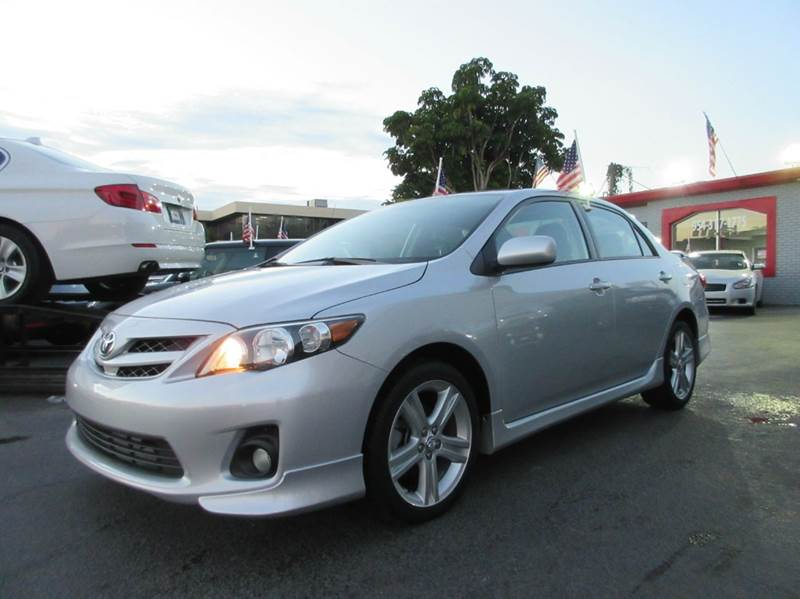 2013 TOYOTA COROLLA S 4DR SEDAN 4A silver advertised price is amount financed with a two thousand