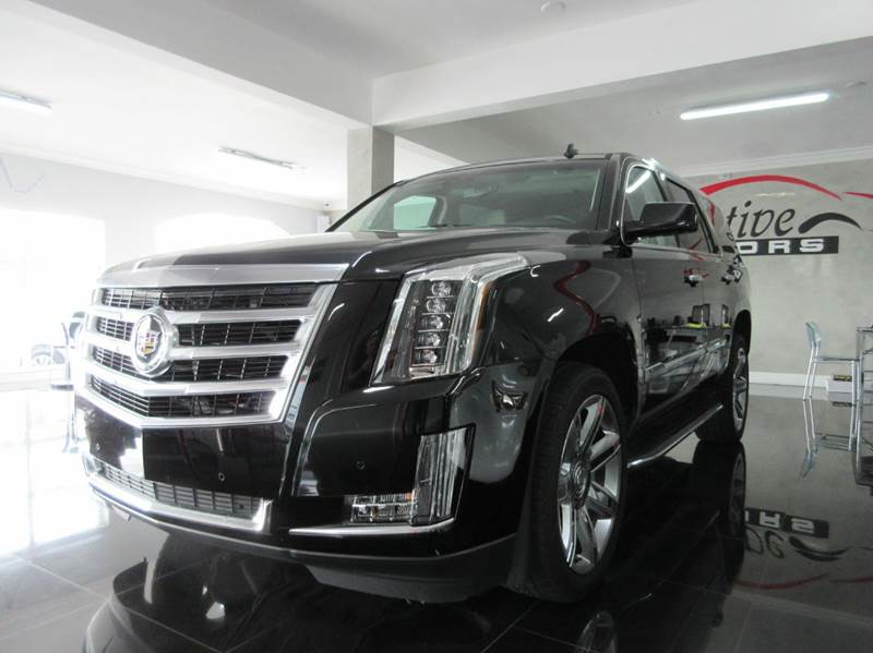 2015 CADILLAC ESCALADE LUXURY 4DR SUV black 2015 cadillac escalade luxury power comfort all in o