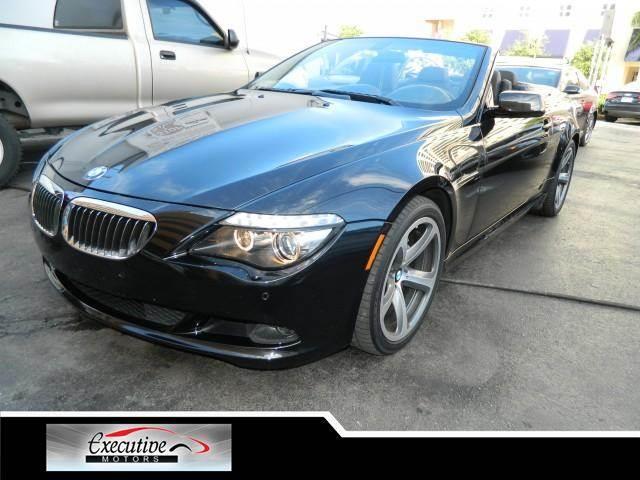 2009 BMW 6 SERIES 650I 2DR CONVERTIBLE jet black keyless startrear wheel drivepower steering4-w