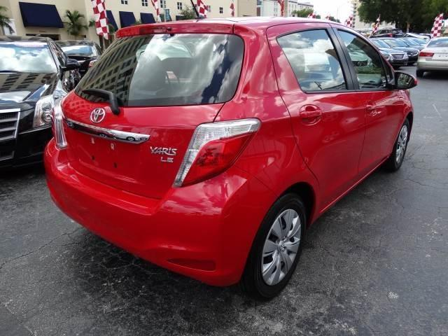 2013 TOYOTA YARIS 5-DOOR SE 4DR HATCHBACK 5M absolutely red there are no electrical concerns assoc